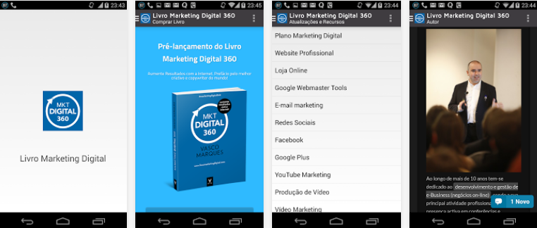 App Mobile Livro Marketing Digital 360