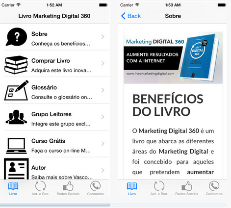 app store - livro marketing digital 360